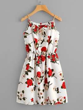 Tidebuy Backless Floral Pullover Women's A-Line Dress