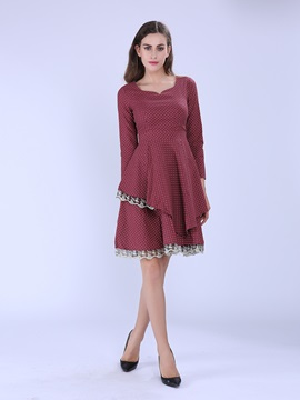 Lace Patchwork Tiered Day Dress