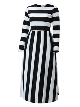 Stripe Empire Waist Skater Dress