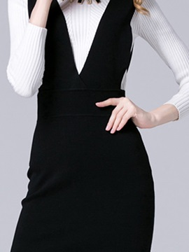 Pullover Sleeveless V-Neck Day Dress