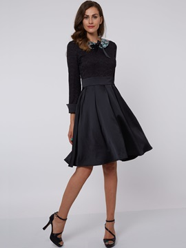 Lapel  Women's Skater Dress
