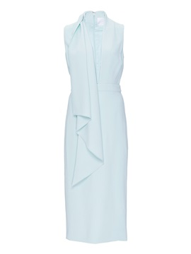 Blue Sleeveless Knee Length Day Dress