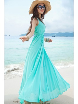 Ankle-Length Beach Summer Women's Maxi Dress