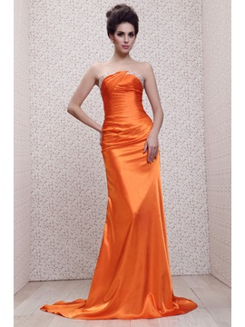 Elegant Trumpet Strapless Beading&Sequins Long Taline's Evening Dress