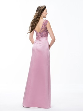 Elegant Sheath/Column Floor-Length Scoop Beading Crystal Evening Dress Designed