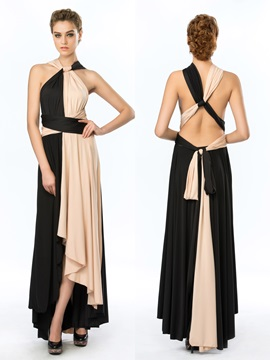 Simple Style Straps Ruffles A-Line Asymmetrical Evening Dress