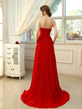 Amazing Sweetheart Appliques Beading Lace-up Long Evening Dress