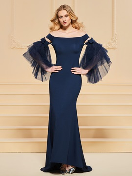 Trumpet Off-the-Shoulder Bowknot Evening Dress