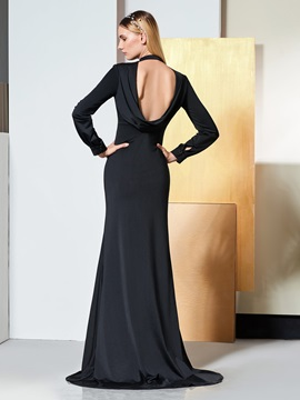 Mermaid High Neck Backless Evening Dress
