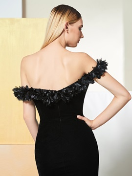 5a1c8278371 Trumpet Off-the-Shoulder Flowers Evening Dress   Tidebuy.com