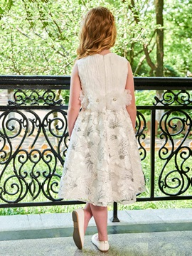 Parent-Child Delicate Straps Sequins Flowers Girl Dress