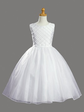 Ball Gown Tea-Length Flower Girl Dress