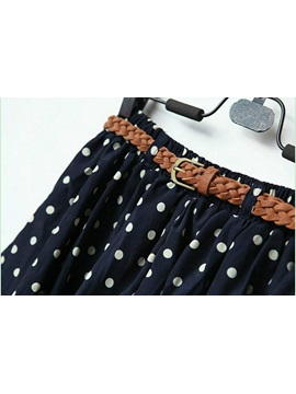Boutique Candy Color Polka Dots All-matched Chiffon Skirt
