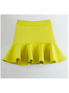 Summer Sweet Candy Color Empire Sheath Mini Skirt/Bubble Skirt