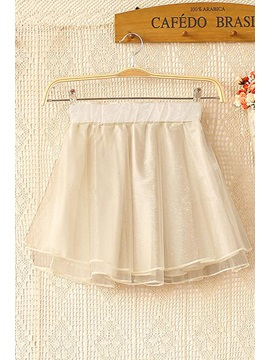 Pure Color All-matched Awesome Mini Skirt/Bubble Skirt(5 Colors)