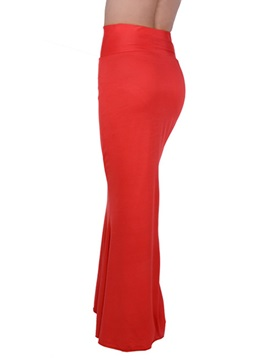 Candy Color High Waist Long Sheath Skirt
