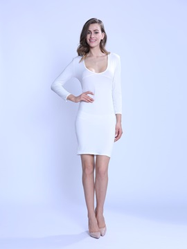 European Style Backless Bodycon Dress