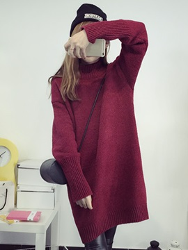 Above Knee Long Sleeve Pullover Women's Bodycon Dress