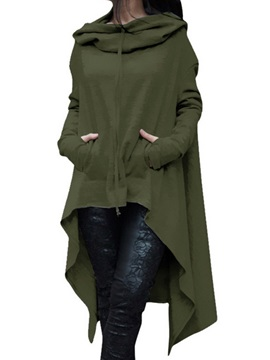Long Sleeve Hooded Mid-Calf Pullover Women's Casual Dress