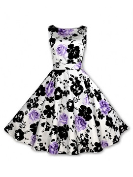 Gorgeous Floral Printed Skater Dress