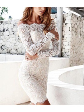 Lace Long Sleeves Women's Bodycon Dress