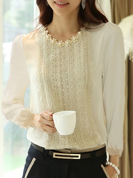 Stylish Lace Round Neck Blouse