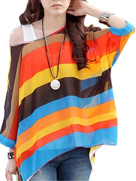 Splendid Broad Striped Loose Blouse