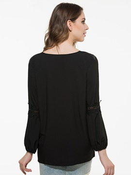 Sexy Collar Loose Sleeves Blouse