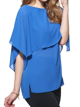 Stylish Sleeves Chiffon Blouse