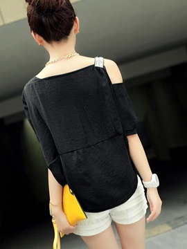 Stylish Asymmetrical off-shoulder Blouse
