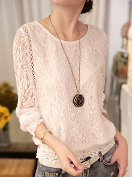 Special See-through Sleeves Lace Blouse