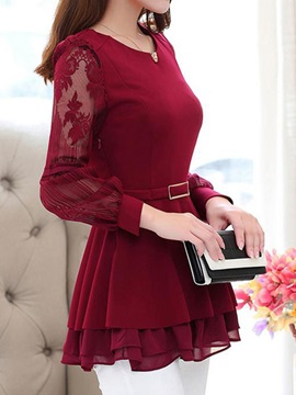 Stylish See-through Sleeves Blouse