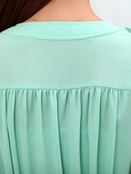 OL Pleated Decoration Collar Blouse
