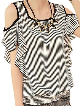 Chic Ruffle Sleeves off-Shoulder Blouse