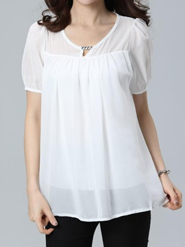 Special Collar Double-Layer Chiffon Blouse