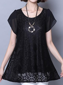 Special Chiffon Sleeves Lace Blouse