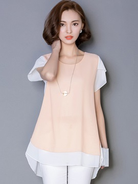 OL Double-Layer Petal Sleeve Blouse