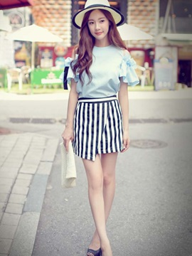 Korean Style Ruffled Sleeve Loose Blouse