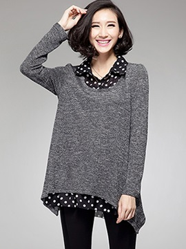 Stylish Double-Layer A-Line Loose Blouse
