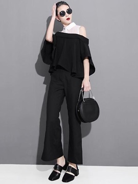 Chic Off-Shoulder Loose Blouse