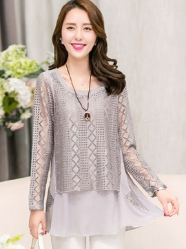 Stylish Double Layer Loose Blouse