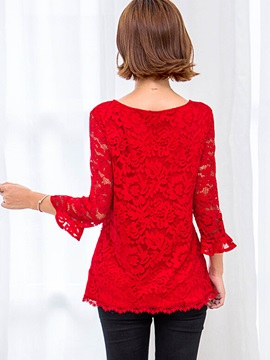 Sweet Slim Lace Blouse