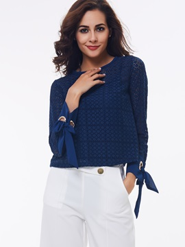 Stylish Plain Sleeve Designed Loose Blouse