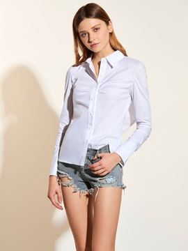 Stylish Backless Slim Blouse