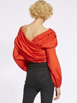 Tie Front Bowknot Pleated Blouse