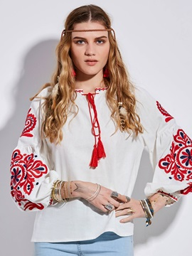 Bohoartist Loose Lantern Sleeve Blouse