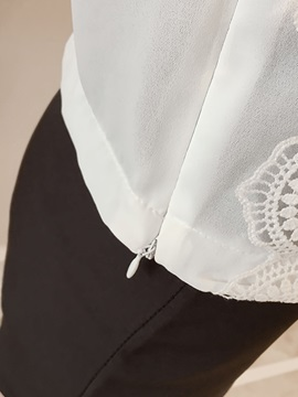 Chiffon Lace Crochet Patchwork Blouse