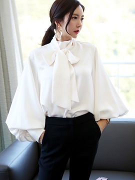 Long Sleeve Lantern Sleeve Loose Women's Blouse