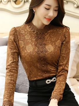 Long Sleeve Regular Slim Women's Blouse