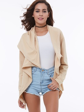 Cotton Button Long Sleeve Hooded Women's Blouse